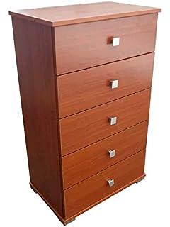 Mobile in legno colore ciliegio cassettiera con 7 cassetti Cm ...