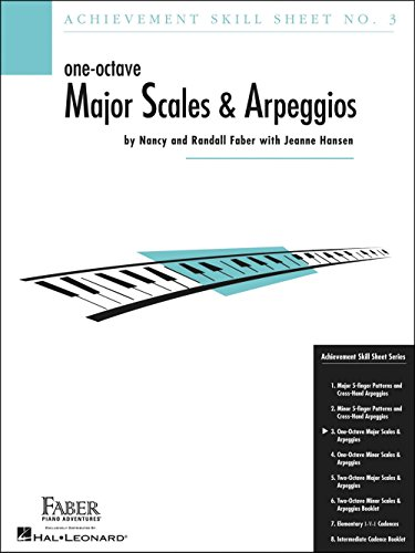 Faber Piano Adventures One-Octave Major Scales And Arpeggios Skill Sheet No.3 - Faber -