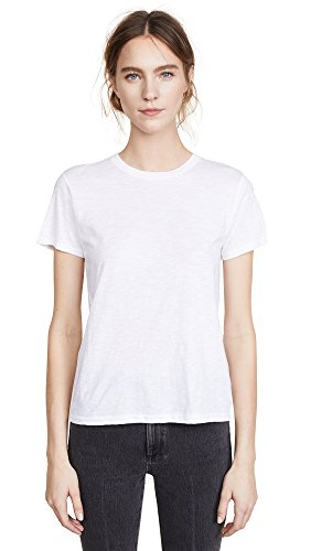 Vince Women's Crew Neck Tee, White, Medium (Vince Tee Pima Jersey)