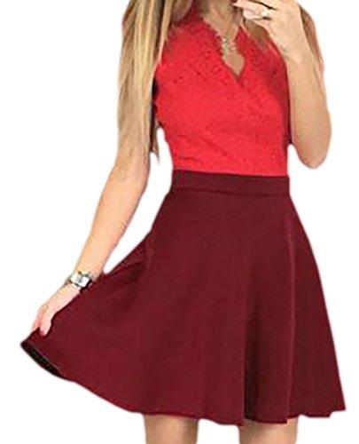 erdbeerloft - Vestido - para mujer Rojo