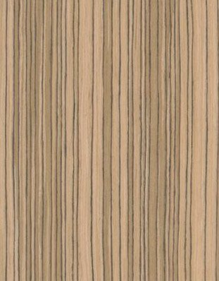 Zebrawood Wood Veneer Qtd Cut - Recon 4x8 10 mil Sheet Pattern D002 by Wood-All