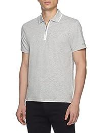 Sport Men's Gray Stretch Cotton Zip Polo Golf T-shirt 2xl