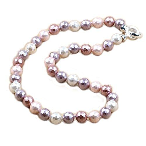 (Necklace 'Mineralia' monochrome pink.)