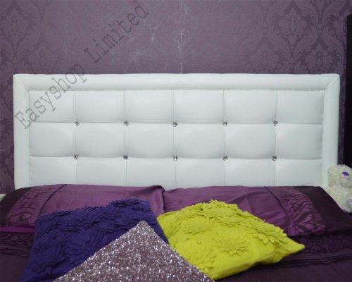 Cream Faux Leather Headboard - 9