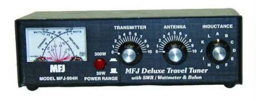 MFJ-904H MFJ904H Original MFJ Enterprises 150W, 80-10 Meters, Cross-Needle SWR/Wattmeter Manual Travel Antenna Tuner