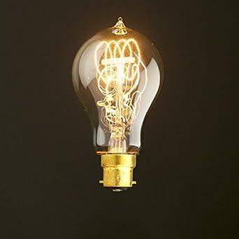 Ampoule Vintage Filament De Style Edison U2013 Passant De Quad U2013 Baïonnette B22