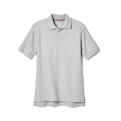 Grey Uniform - French Toast Little Boys' Toddler Short Sleeve Pique Polo, Grey, 4T