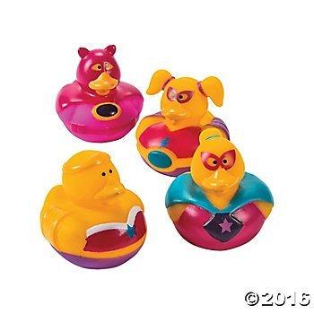 Superhero Girl Rubber Duckies - 12 pc by Rubber - Ducks Rubber Superhero