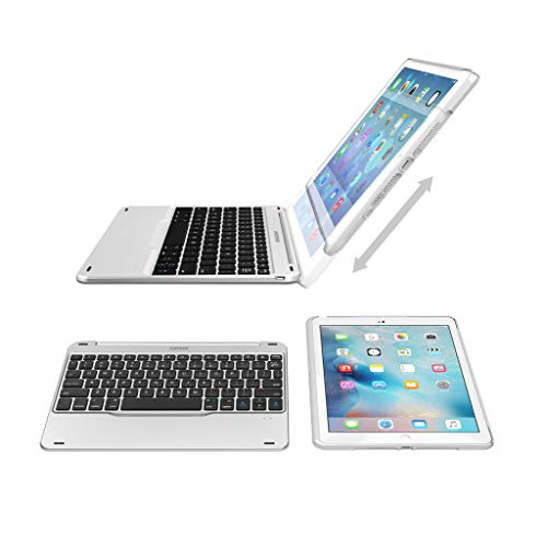 Keyboard iPad 6, 2018 // iPad 5, 2017 iPad 5 and iPad Air 1 with 130 Degree Swivel Rotating Arteck Ultra-Thin Bluetooth Keyboard Folio Case with Stand Groove for Apple iPad 9.7 iPad 6 iPad 9.7-inch