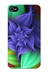 Vintage White Wild Flowers Background Hard Snap on Phone Case ( For Iphone 4/4S Case Cover )