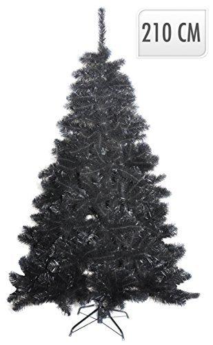 Albero Di Natale Nero.210 Cm Albero Di Natale Nero 1220 Con Punte Invecchiato