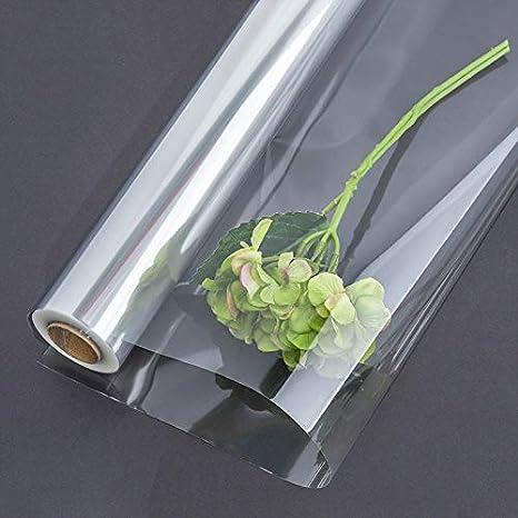 matrimonio ideale per Natale Rotolo di cellophane trasparente compleanno ideale come cesto per fiori e fiori Pasqua fai da te 20 m x 80 cm di larghezza