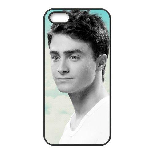 Daniel Radcliffe 004 coque iPhone 5 5S cellulaire cas coque de téléphone cas téléphone cellulaire noir couvercle EOKXLLNCD23037
