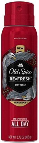 Old Spice Wild Collection Hawkridge Re-Fresh Body Spray, 3.7