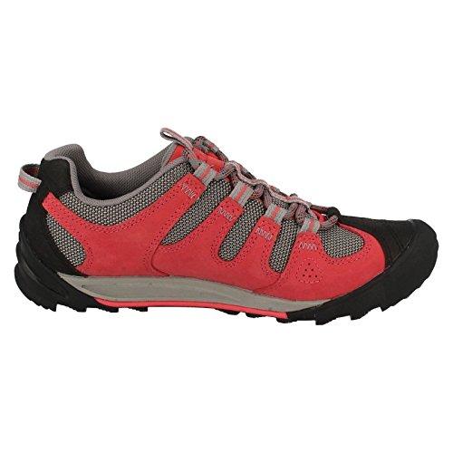Clarks Damen Sport Clarks Auslagen, South Nubuk Schuhe in Rot