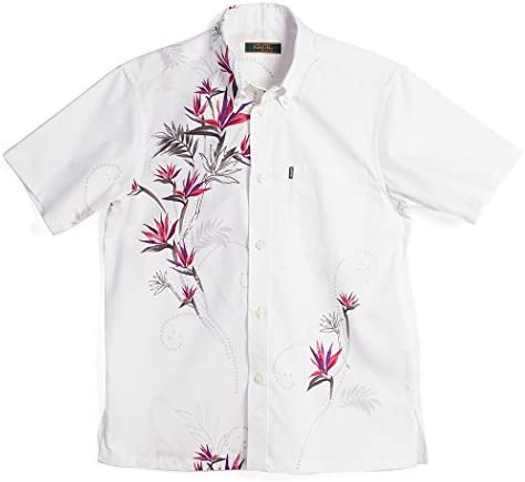 かりゆしウェア アロハシャツ かりゆし 結婚式 メンズ 半袖シャツ ボタンダウン クレイフラワー