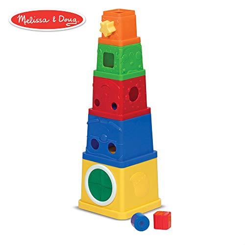 Melissa & Doug K's Kids Stacking Blocks Set With Sorting - Nesting Stacking Boxes