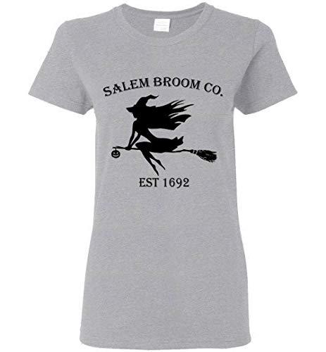 Halloween Salem Broom co est 1692 Gift Idea Women T-Shirt
