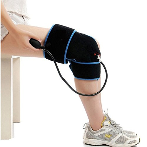 Cold Therapy Knee Wrap With Compression and Extra Ice Gel Pack - Essential Kit For Knee Pain and Post Knee Surgery Recovery by SimplyJnJ