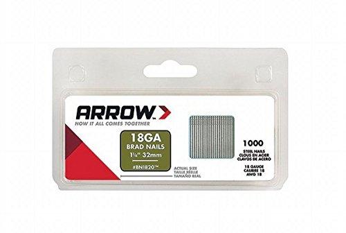 Arrow Fastener BN1820CS 1-1/4-Inch Brad Nails, 18-Gauge
