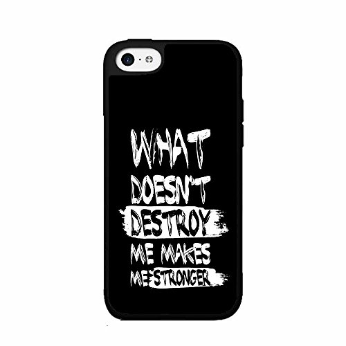 BleuReign(TM) Makes Me Stronger Quote Plastic Phone Case Back Cover iPhone 5 5s and iPhone SE