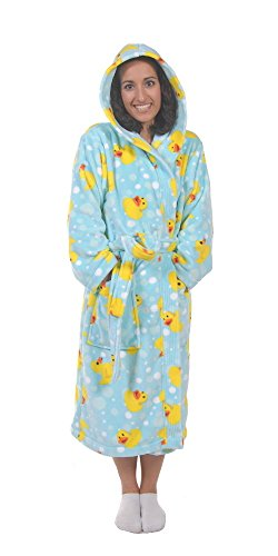 Womens Rubber Duck (Forever Lazy Bathrobe - Duck Duck Snooze - M)