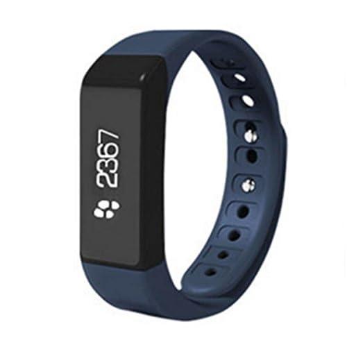 Étape étape Par étape Calorie Grand écran Affichage Message Pousser Intelligent Bracelet Sommeil Détection Sédentaire Rappel Date Date Affichage,Blue-OneSize