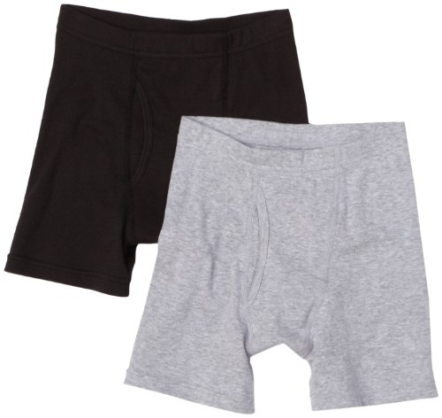 Hanes Big Boys'  Classic Dyed Boxer Brief (Pack of 2)