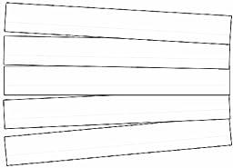 Carson Dellosa Sentence Strips, Lined White Sentence Strips (4453)