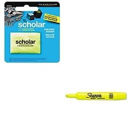 KITSAN1816553SAN25025 - Value Kit - Prismacolor Scholar Kneaded Eraser (SAN1816553) and Sharpie Accent Tank Style Highlighter (SAN25025)