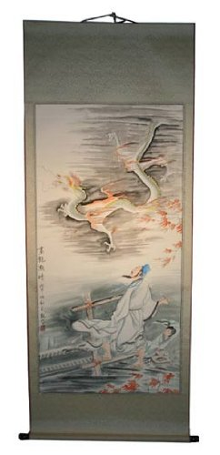 amazon com large hand painting chinese scroll art watercolor