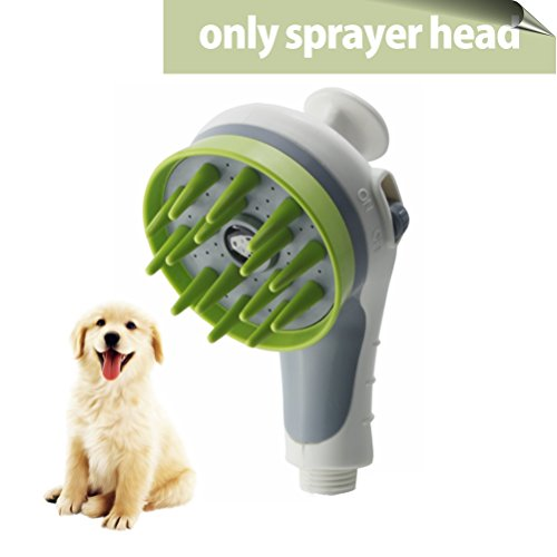 SKILEEN Pet Shower Head, Pets Sprayer Shower Pet Sprayer Dog Bath Massage Bathing Tool Universal Cat Shower Head for Indoor Outdoor -