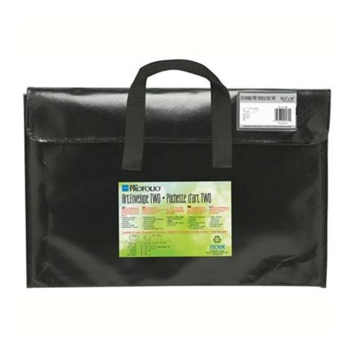 Art Envelope - Itoya Profolio Art Envelope Pro, Weather-Resistant with Nylon Handles, 24.5 X 36.5 inches, Gloss Black (NV-24-36BK)