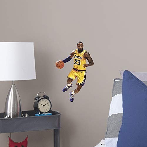 533c4897e853c FATHEAD NBA Los Angeles Lakers Lebron James Lebron James- Officially  Licensed Removable Wall Decal