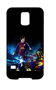 Samsung Galaxy S5 I9600 Funda Caso Carcasa Covers, Plastic FC Barcelona Custom Case Cover For Samsung S5, Team Logo Lionel Messi Football Player Case Skin