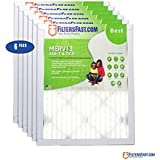 """1"""" Pleated Air Filter Merv 13-6 pack by Filters Fast 13 x 22 x 1 (Actual Size: 13 x 21.5 x 0.75)"""