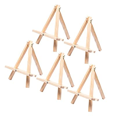 """Tosnail 12"""" Tall Natural Wood Tripod Easel Photo Painting Display - 5 Pack"""