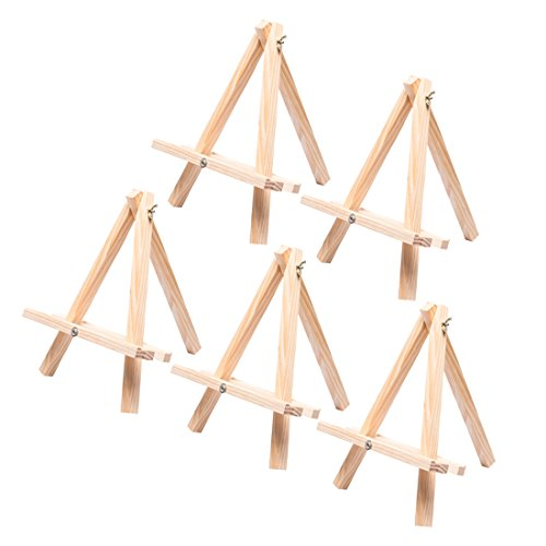 Tosnail 12'' Tall Natural Wood Tripod Easel Photo Painting Display - 5 Pack by Tosnail (Image #5)