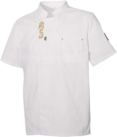 B Blesiya Camisa de Chef Chaqueta de Cocinero de Mangas Cortas ...