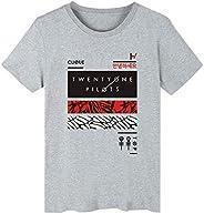 Popular Twenty One Pilots Solid Color Print Short Sleeve T-Shirt Unisex 4 Colors
