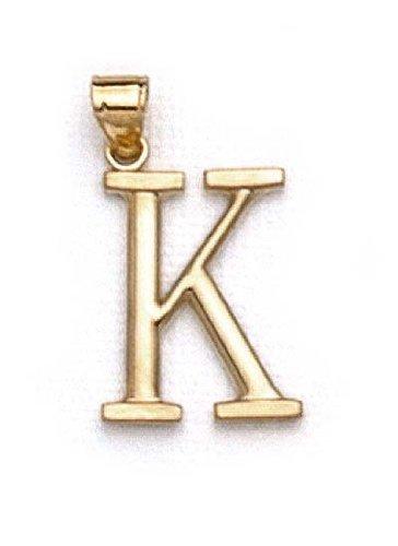 "14 Carats Pendentif initiale K 1 3/8 ""longue JewelryWeb"