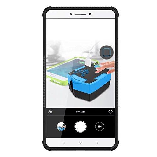 Xiaomi Mi Max Funda, adorehouse Hybrid TPU y PC Bumper Back Cover [diseño 2 en 1] Anti-Gota Anti-Choques Rígido Carcasas para Xiaomi Mi Max (Rosa Caliente) Azul