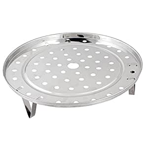 Gilroy Stainless Steel Steamer Rack Insert Stock Pot Thick Steaming Tray Stand Cookware Tool (19.5cm )