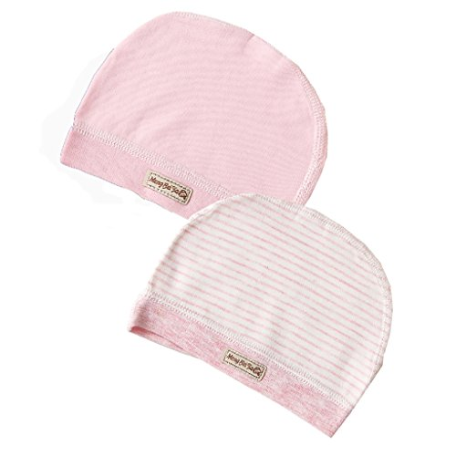 MMBABY 2 Packs of Infant Toddler Baby Unisex 100% Cotton Soft Cute Lovely Newborn Kids Hat Beanies Caps (0-3 Months, - Bucket Lb 6