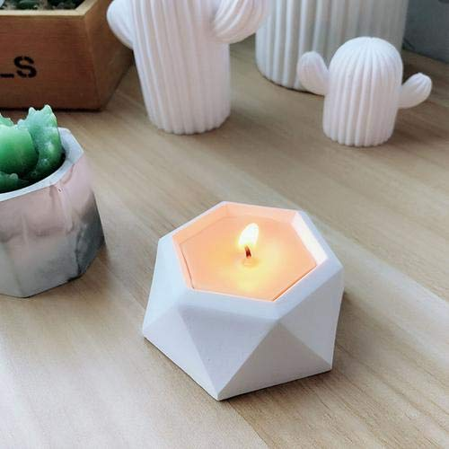 2 Pcs Diamond Shaped Surface Succulent Plant Flower Pot Silicone Mold DIY Ashtray Candle Holder Mould