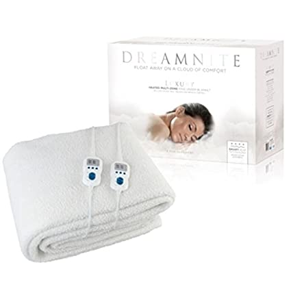 DREAMNITE Manta Eléctrica DN47002 Multi-Zona, mullida, Color Crema, Polar, Crema