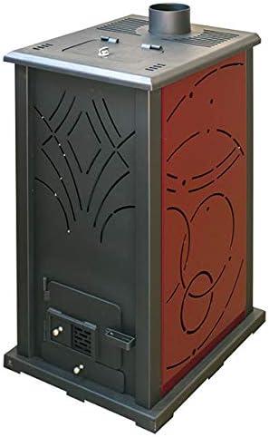 Estufa Biomasa sin Electricidad JOIMA Modelo Mini ECO NOVA (Pellet-Orujo). Funciona sin Luz. Estufa de Orujillo