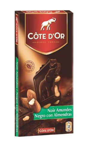 Cote D'or Dark Chocolate W/almonds 7oz./200gr. (5 Bar Pack)