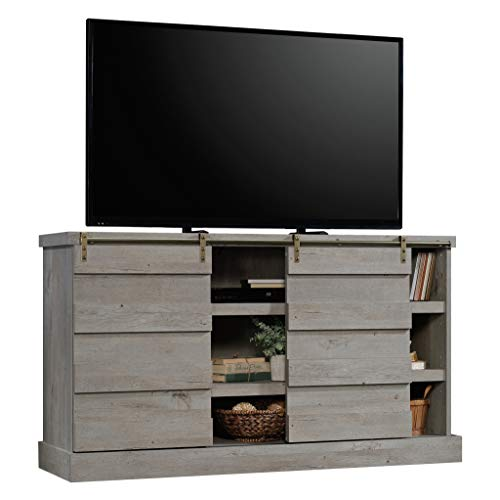 Sauder 422875 Cannery Bridge Credenza, Accommodates up to a 60'' TV Weighing 70 lbs. or Less, Mystic Oak Finish by Sauder (Image #1)