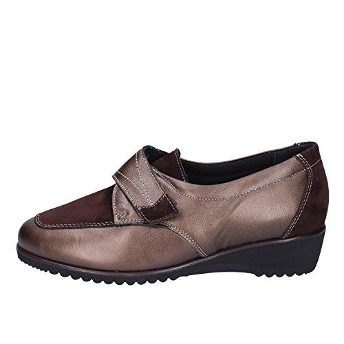 SUSIMODA Sneakers Damen 37 EU Braun Leder Wildleder